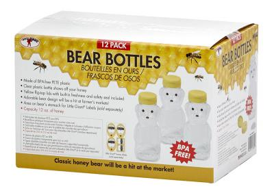 Beekeeping 12 oz Honey Bear Bottles 12 Count