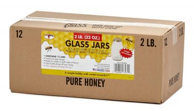 Beekeeping 32 oz Glass Honey Jars 12 Pk