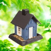 village-collection-blue-cottage-bird-feeder