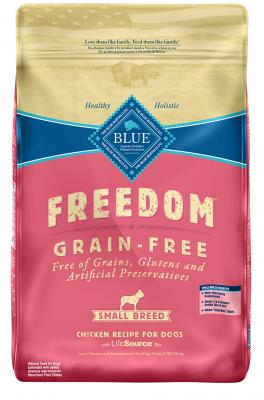 Blue Freedom Grain Free Chicken Recipe For Small Breed Adult Dogs