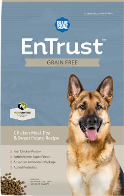 BLUE SEAL ENTRUST GF CHICKEN, PEA & SWEET POTATO 30 LB