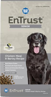 BLUE SEAL ENTRUST SENIOR CHICKEN & BARLEY 20 LB - Temporarily out of stock
