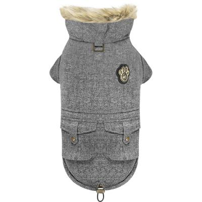 Canada Pooch Dog Jacket Alaskan Army Parka Salt & Pepper 14 in.