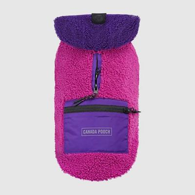 Canada Pooch Dog Jacket Cool Factor Hoodie Pink/Purple 20 in.