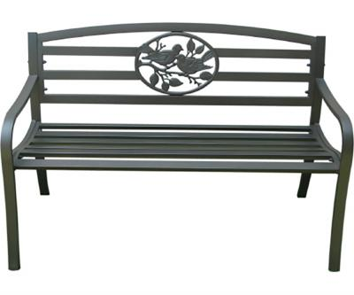 Awesome Steel Park Bench With Bird Design Ibusinesslaw Wood Chair Design Ideas Ibusinesslaworg