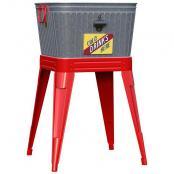 vintage-galvanized-washtub-beverage-stand
