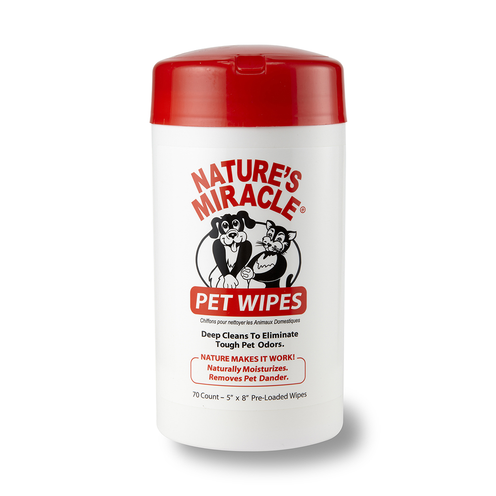Natures Miracle Pet Wipes 70 Ct