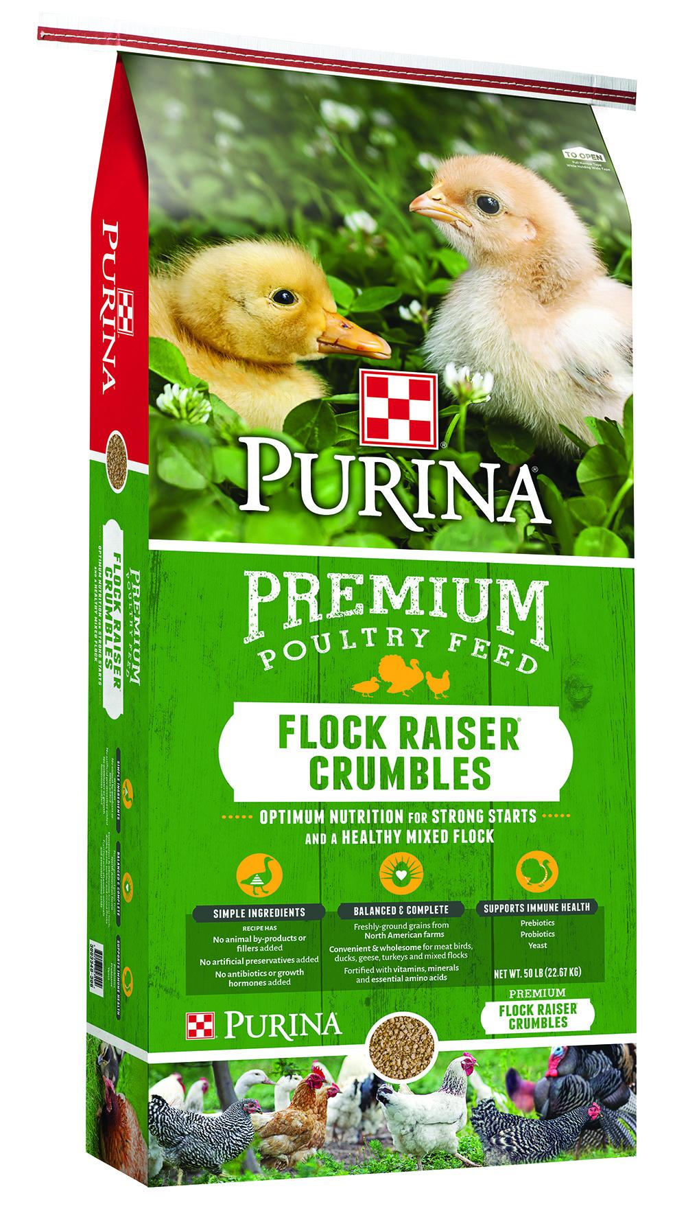 Purina Flock Raiser Crumbles 50 Lb