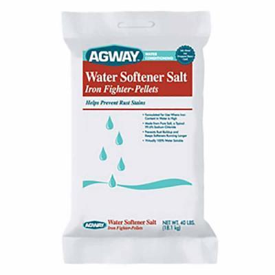 Agway Water Softener Salt Iron Fighter Pellets 40 lb.